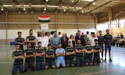 نهائي كرة الطائرة بين جامعة الموصل وجامعة الحمدانية