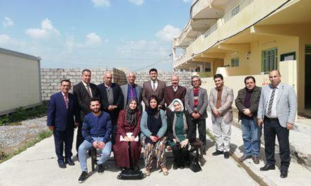 رئيس الجامعة يجتمع بملاك اقسام اللغة العربية والتاريخ والعلوم النفسية والتربوية وقسم علوم الرياضة
