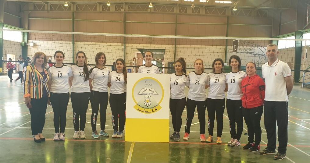 فريق جامعتنا بالكرة الطائرة/ طالبات يحقق فوزه الأول في بطولة الجامعات العراقية