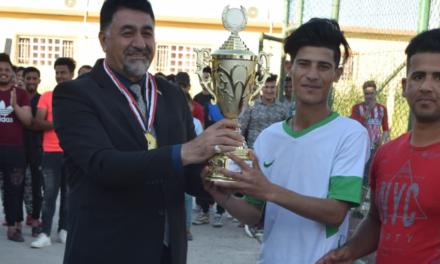 اختتام بطولة شهداء العراق بكرة القدم لفرق الأقسام الداخلية بجامعتنا