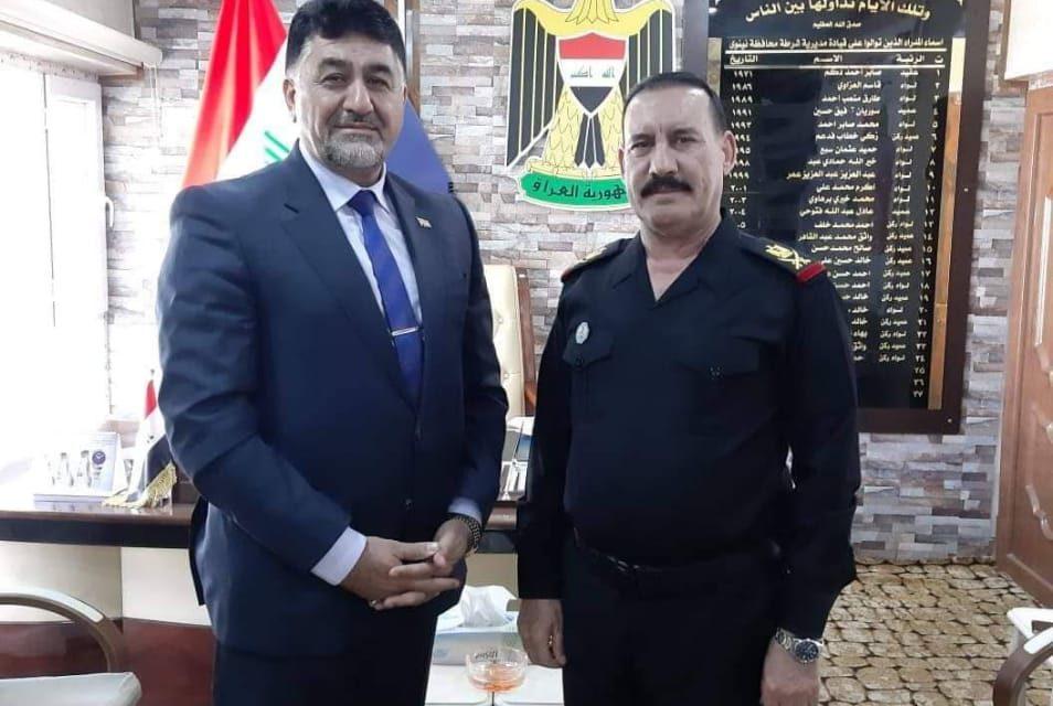 رئيس الجامعة يلتقي بقائد شرطة نينوى